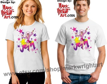 Jem of Jem & The Holograms Original Artwork T-Shirt Design