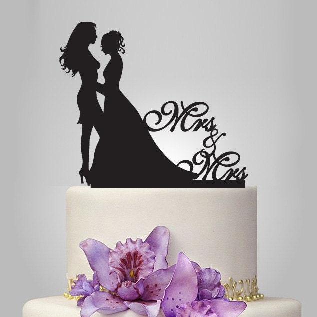 Lesbian Wedding Cake Topper Same Sex Cake Topper By Walldecal76