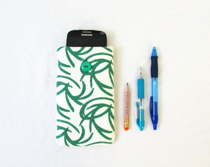 Fabric Iphone 6 case, IPhone 6 cover, Hand printed fabric, cell phone cover, Samsung Galaxy  s5 s6 s7, IPhone 6, HTC m8, handmade in the UK