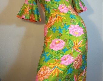 FREE  SHIPPING   Alice  Hawaiian  Dress