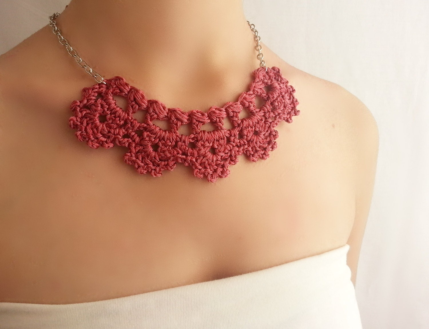 marsala necklace dainty necklace etsy handmade jewelry