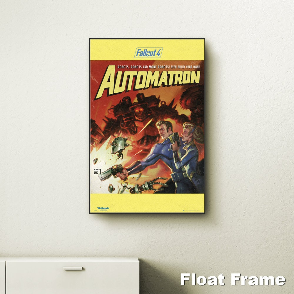 Fallout 4 automatron wall art choose either a canvas float for Fallout 4 canvas painting