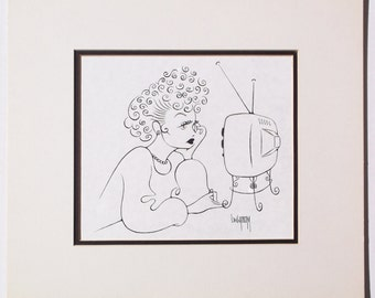 Lucille Ball original drawing by Disney Artist Dave Woodman