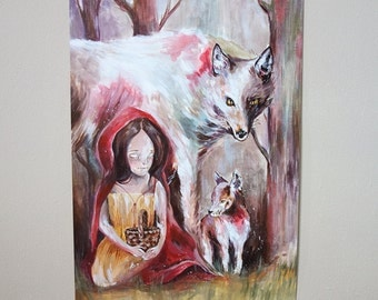 Little Red Riding Hood - original acrylic painting
