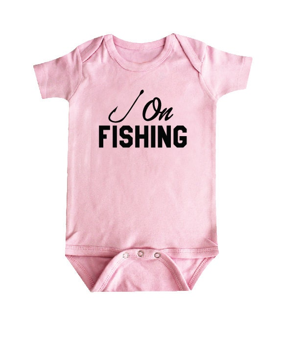 Hook on fishing baby girl clothes baby bodysuit baby shower for Baby fishing shirts