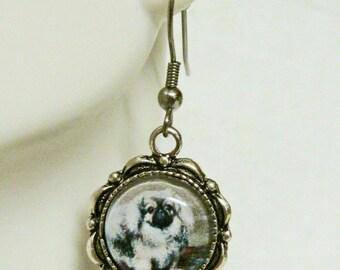 Pekinese earrings - DAP07-126