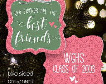 friends ornament - ornament exchange - old friends are the best friends BFO