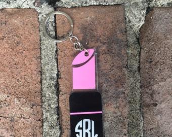 Lipstick Keychain - Make-Up Key chain - Personalized Keychain   Monogram Keychain   Make-Up Keychain   Make-Up Artist