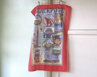 Vintage U.K. Souvenir Tea Towels - Vintage Blackpool Tea Towel - Bath Tea Towel - Union Jack Tea Towel - Linen Tea Towels