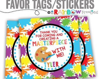 FVTAGS-826: DIY - Paint Party Favor Tags Or Stickers