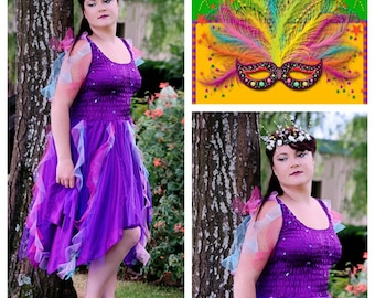 Adult Fairy Costume  ~ Woman's Fun  Party Dress ~ Theatre ~Mardi Gras ~ Carnival Festival