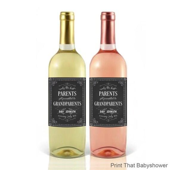 Très La grossesse annonce bébé annonce vin étiquette de bouteille KI52