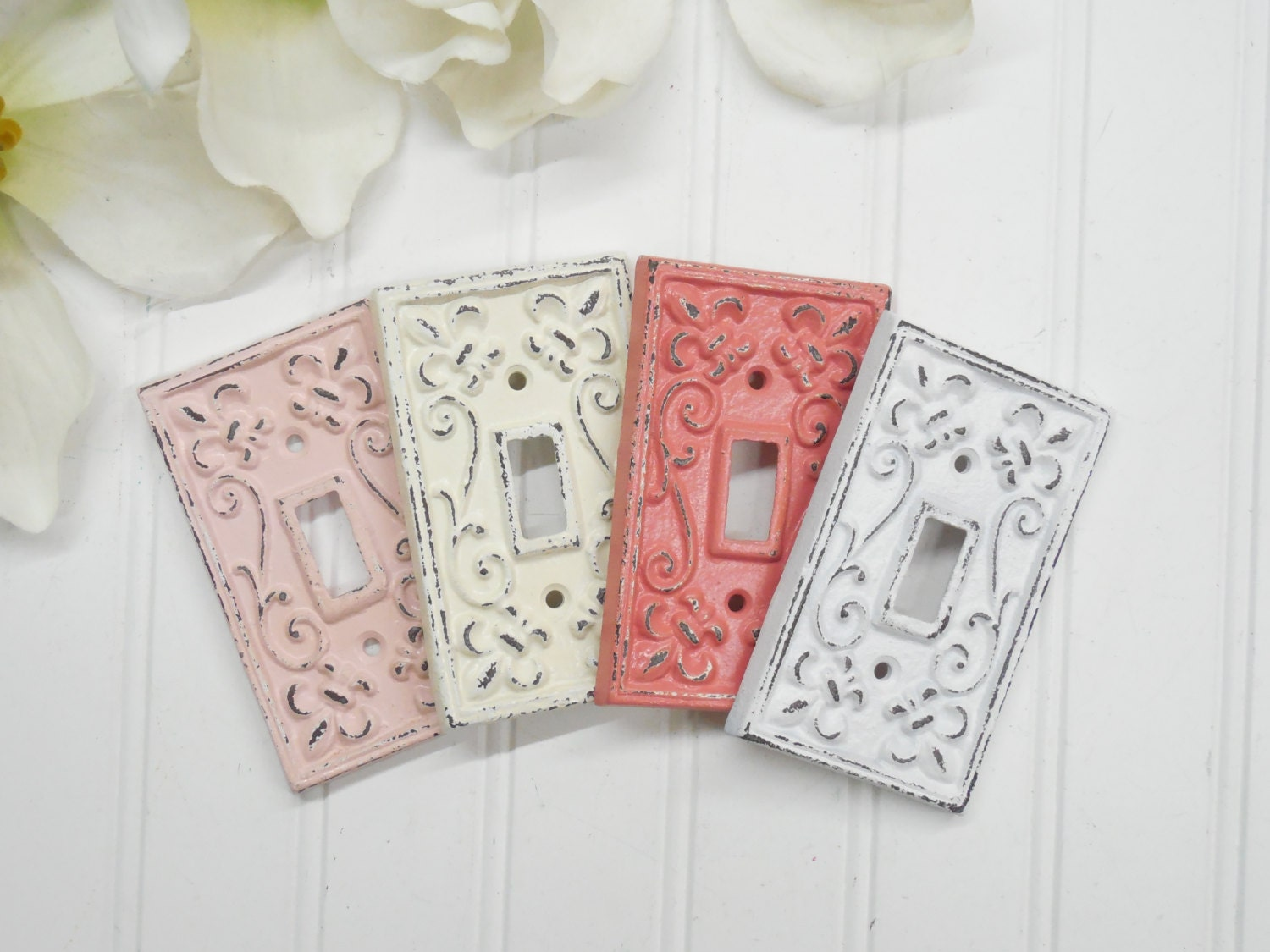 Light switch plate covers decorative - Light Switch Cover Nursery Wall Decor Light Switch Plate Decorative Cover Outlet Cover Shabby Chic Metal Plate Cover