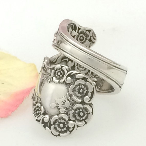sterling silver spoon ring size 7 12 custom buttercup