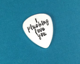 I Plucking Love You Guitar Pick - Anniversary Gifts - Long Distance Relationship - Personalized Gift For Him - Christmas Gift - Boyfriend