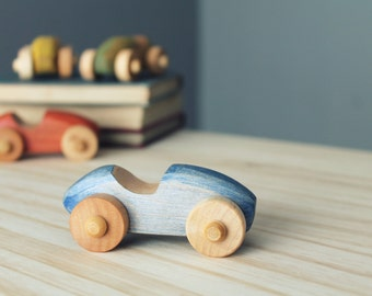 Little car, wooden toy, vintage style toy
