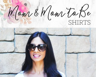 Mom Life Shirt Mom Shirt Mommy To Be New Mom Gift Mommy Shirt  (EB3160BBY) Mom Life Tee