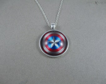 Captain America Shield Pendant Necklace