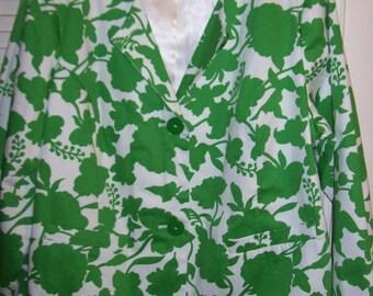 Vintage Linea Spring Cotton Jacket/Blazer by Louis Dell'Ollio Size 1X