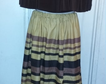 Upcycled bed sheet skirt floor length