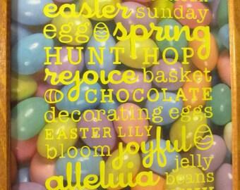 Framed Easter Word Art