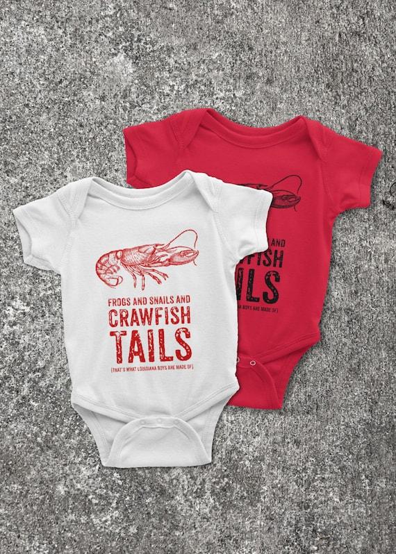 Louisiana Baby Boys Cajun Crawfish Onesie Infant Bodysuit