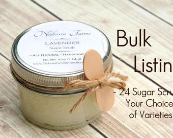 Bulk Sugar Scrubs- 24 Sugar Scrubs - Shower Favors - Wedding Shower Favors - Baby Shower Favors - Bridal Shower Favors - Wedding Favors