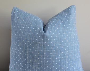 Polka Dot Linen Pillow Cover // 18x18, 20x20 Square Throw Pillow, Accent Pillow, Toss Pillow 16 22 24 26 Euro