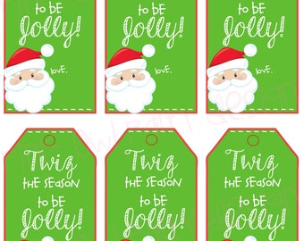 Printable christmas redbox gift tag merry christmas and to twizzler christmas gift tag twiz the season to be jolley instant download negle Images