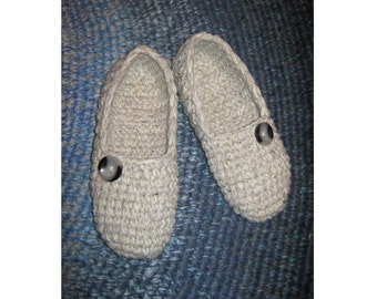 natural white melange crochet slippers, white woman house slippers, crochet shoes,friend gift, size 5 6 7 8 9 10 11 12 / 11