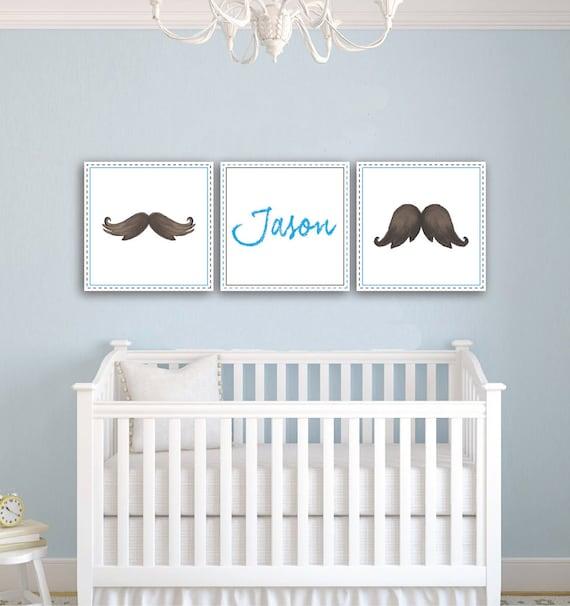 Cute Nursery Wall Decor : Items similar to baby boy nursery wall decor blue