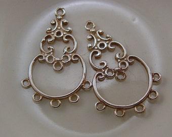 Earrings Chandelier Sterling Silver .925  #5156