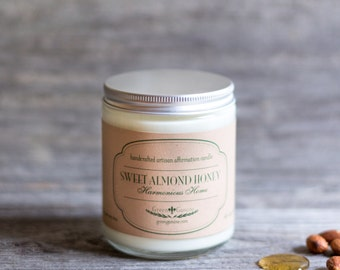 Almond Honey Handmade Soy Candle