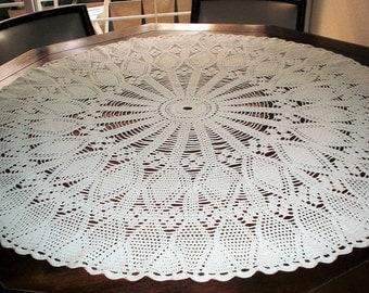 Retro Style Sofa Throw 70s Crochet Blanket Wool by ...