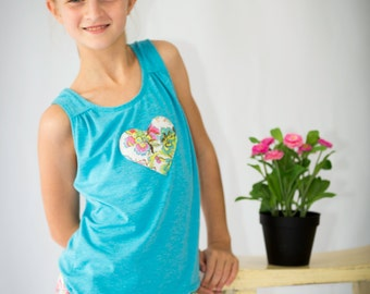 Girls pj pattern, girls pyjama pattern, girls sewing pattern, girls pajamas pattern, girls sleepwear pattern, PRIMROSE PJ'S