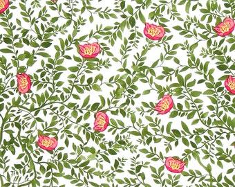 SALE Baroque Garden Silhouette Mesa Fabric Half Yard or By-The-Yard; PWKM020.MESAX; Studio KM Free Spirit; Floral Fabric