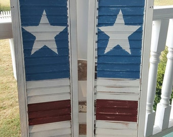 Patriotic Farmhouse Chic Shutter