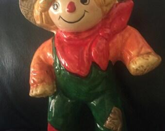 Vintage RB  Halloween Scarecrow ceramic figurine