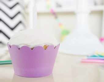 LIGHT PURPLE Cupcake Wrappers - Set of 24