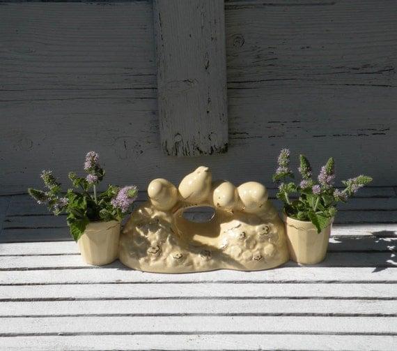 French vintage egg holder, French vintage egg cups, French vintage vases, French country home, cottage chic, bird vases, bird egg cups