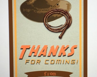 Indiana Jones Thank You Tags - Indiana Jones Party Printables - Printable PDF File
