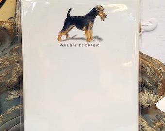 Welsh Terrier Dog Note Card Set