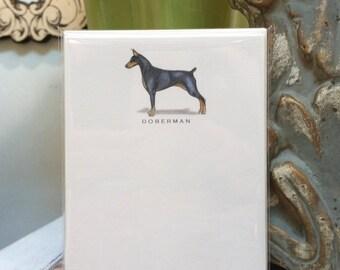 Doberman Dog Note Card Set
