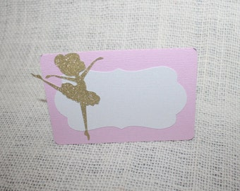 Ballerina place cards, Ballerina tents cards, Ballerina party, Ballerina birthday .Set of 12