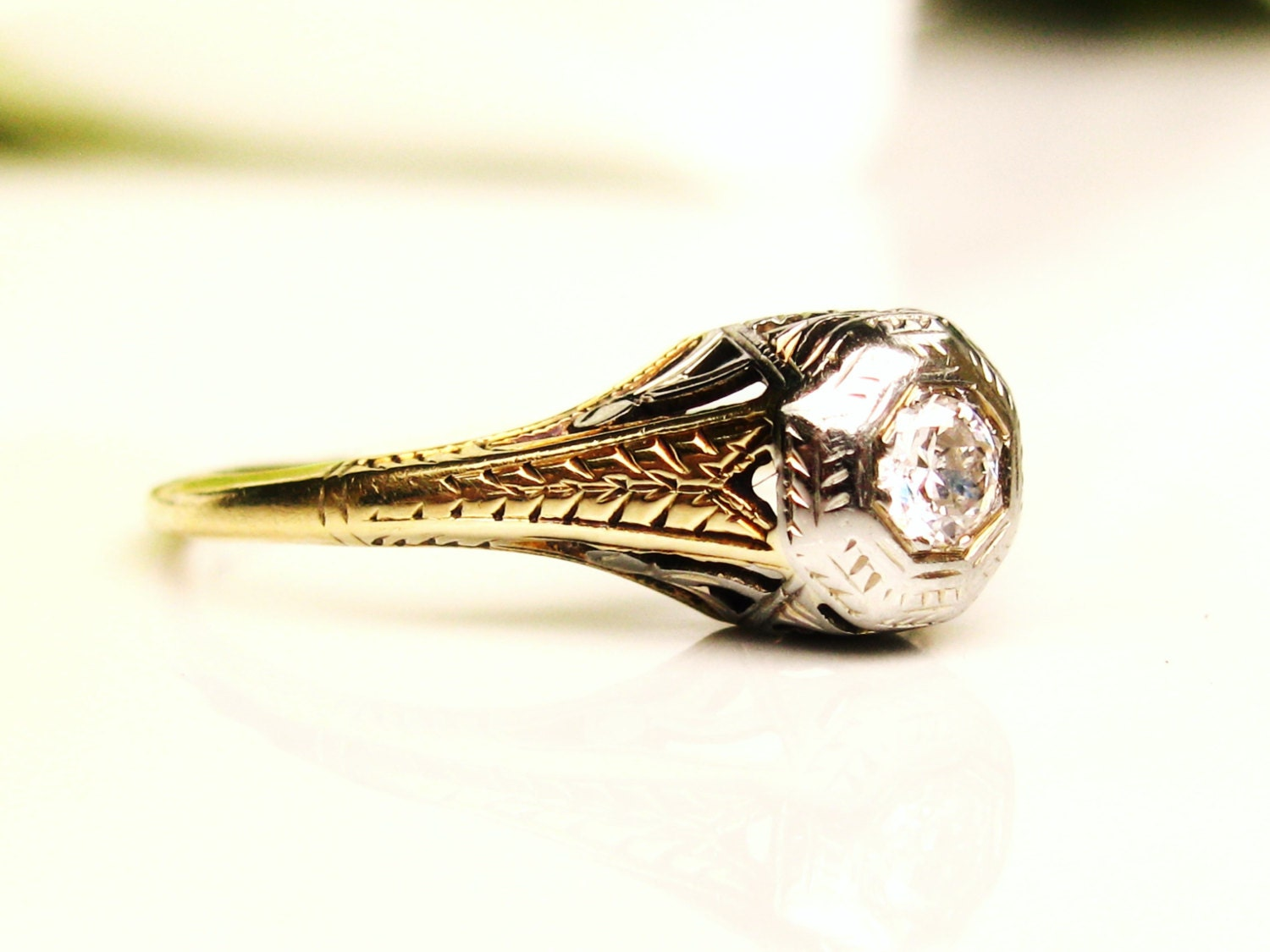 antique engagement ring by ladyrosevintagejewel