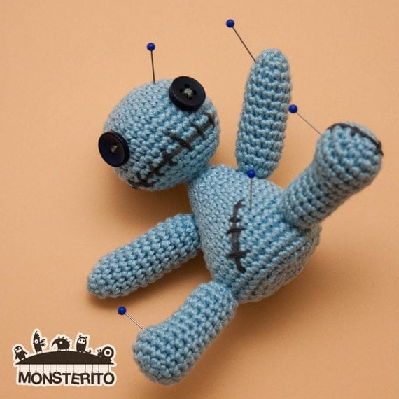 Crochet Amigurumi Voodoo Doll : Voodoo doll .PDF pattern Amigurumi pattern how to crochet