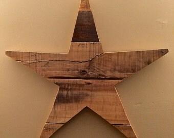 Handmade Reclaimed Wood Star