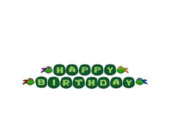 Teenage Mutant Ninja Turtle Happy Birthday Banner Decorations