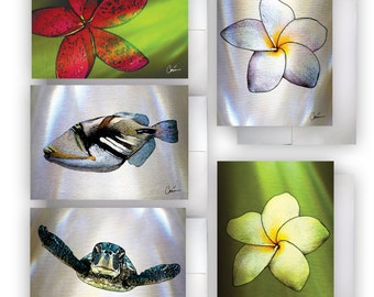 Tropical Greeting Card Set of 5