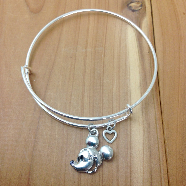 Mickey Mouse Charm Bracelet: Disney Charm Bracelet Mickey Mouse Mickey Jewelry Disney